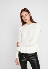 Carin Wester - JUMPER LUCINDA - Stickad tröja - snow white - 0