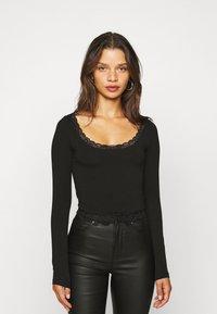 Even&Odd Petite - 2 PACK - Bluzka z długim rękawem - black/white - 3