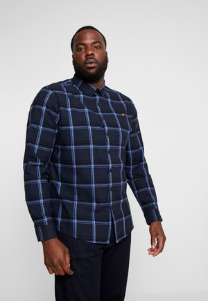PLUS STEEN CHECK - Skjorta - true navy