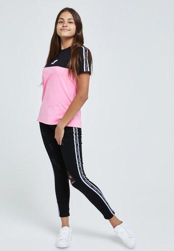 Print T-shirt - black & pink