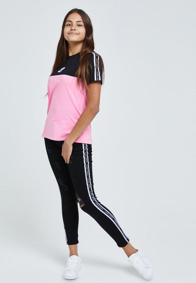 T-shirt imprimé - black & pink