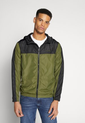 WIND - Summer jacket - black/army