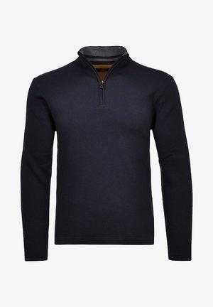 MIT ZIP - Sweatshirt - nachtblau