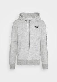 Hollister Co. - TECH LOGO - Zip-up hoodie - grey - 0