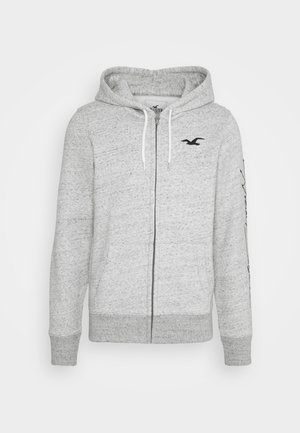 TECH LOGO - Zip-up hoodie - grey