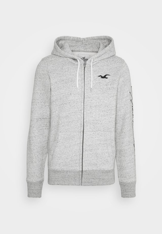 TECH LOGO - veste en sweat zippée - grey