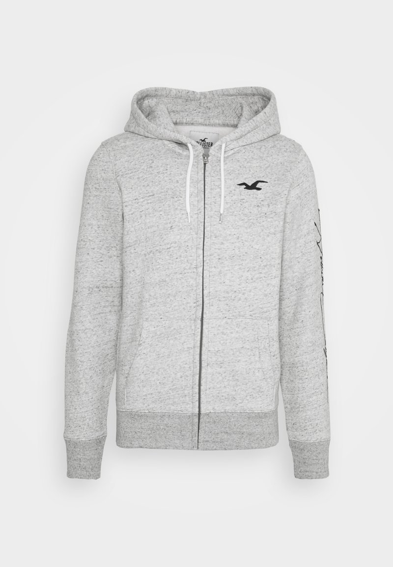 Hollister Co. - TECH LOGO - Zip-up hoodie - grey