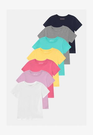 7 PACK  - Basic T-shirt - dark blue/blue/pink