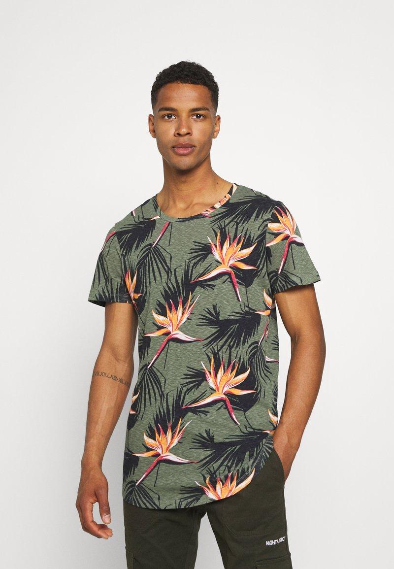 Jack & Jones - JORFLORALL - Print T-shirt - sea spray