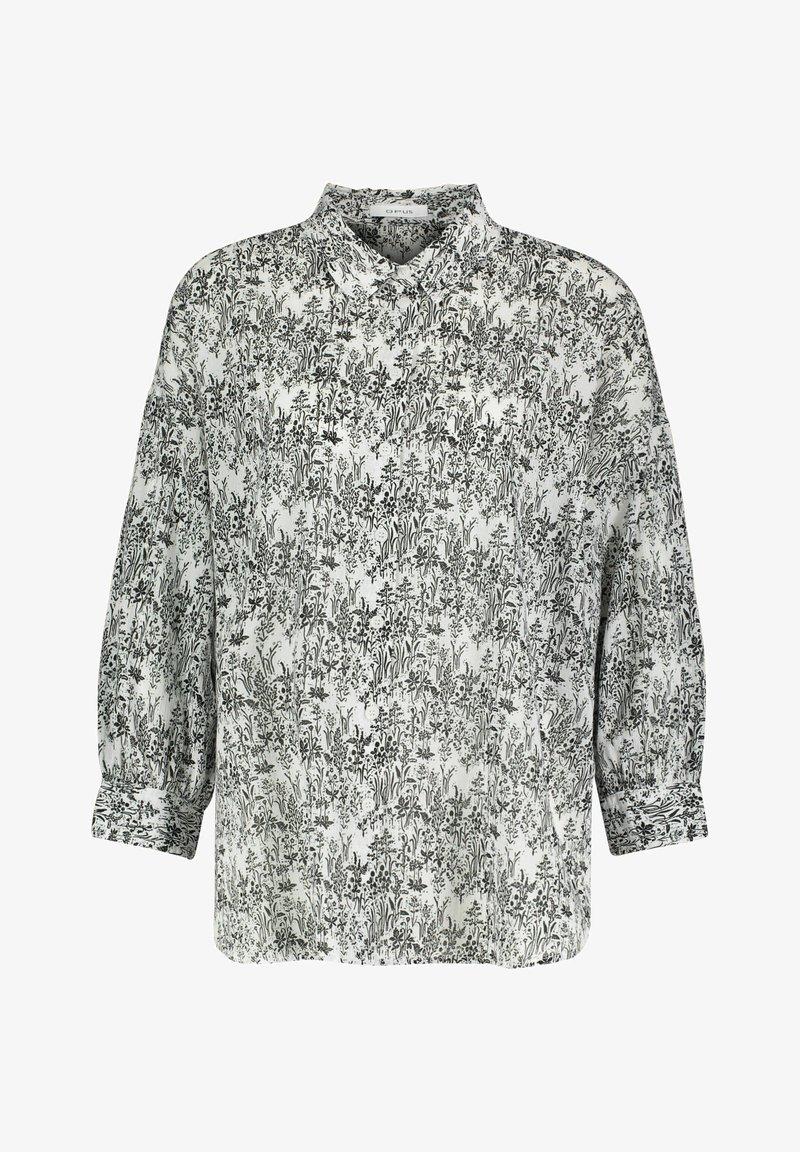 Opus - FILMA GARDEN - Button-down blouse - white/black