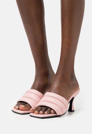 SLFASHLEY PADDED MULE - Slip-ins med klack - prism pink