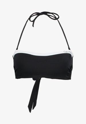 NOS LOGO BANDEAU-RP - Bikini top - black