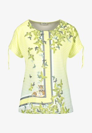 Print T-shirt - off white ligh lime aloe druck