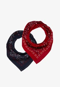 Pier One - 2 PACK - Šátek - red/dark blue - 0