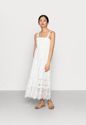 LORETTA SHIRRED MIDI DRESS - Maxi dress - porcelain