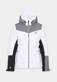 ICE GLEAM JACKET - Ski jacket - white/alugrey
