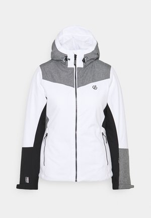 ICE GLEAM JACKET - Ski jacket - white/alugrey
