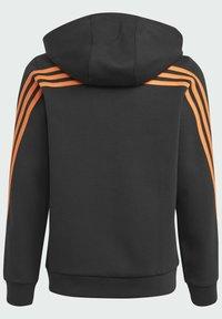 adidas Performance - STRIPES DOUBLEKNIT FULL-ZIP HOODIE - Training jacket - black - 5