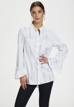Button-down blouse - powder blue