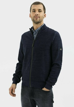 MIT STEHKRAGEN - Cardigan - night blue