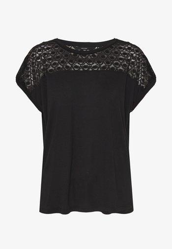 VMSOFIA LACE TOP - T-shirts - black