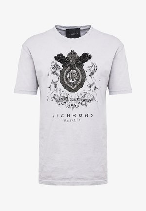SELEZNEVA - T-shirt con stampa - grey light