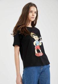 DeFacto - DISNEY PINOCCHIO - Print T-shirt - black - 3