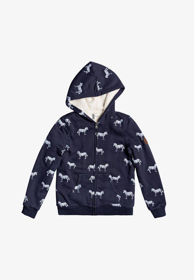 SAY LOVE  MIT REISSVERSCHLUSS  - Zip-up hoodie - mood indigo georges print