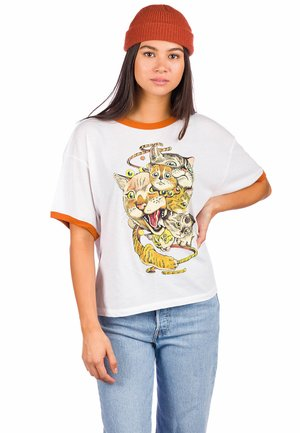 SHINTARO CATS  - Print T-shirt - vintage white