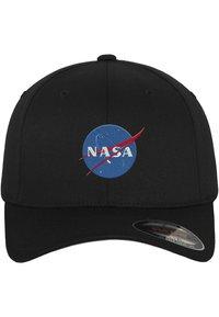 Mister Tee - HERREN NASA FLEXFIT CAP - Cap - black - 0