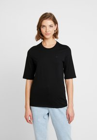 Lacoste - ROUND NECK CLASSIC TEE - Basic T-shirt - black - 0