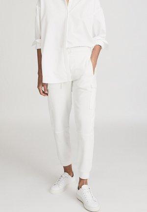 BERNICE - Cargo trousers - white