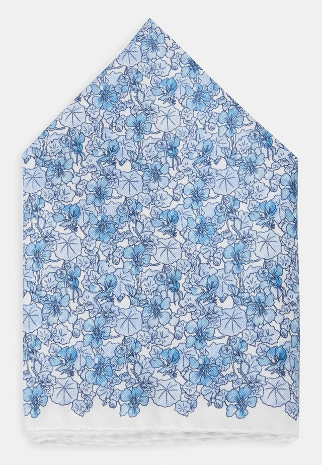 FLORAL POCKET SQUARE - Poszetka - blue