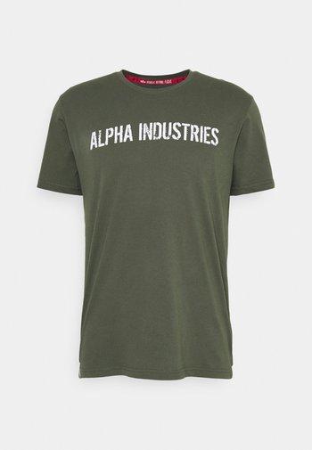 MOTO  - T-shirt z nadrukiem - dark olive