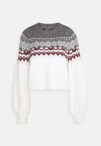 Gina Tricot - CHRISTMAS BELLE SWEATER - Jumper - offwhite/orchid - 0
