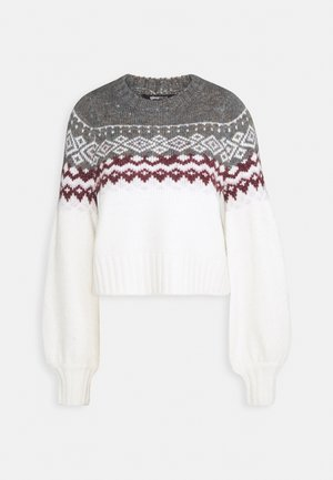 CHRISTMAS BELLE SWEATER - Jumper - offwhite/orchid