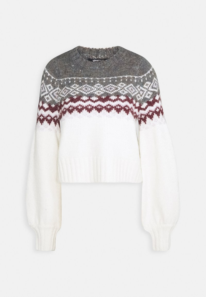 Gina Tricot - CHRISTMAS BELLE SWEATER - Jumper - offwhite/orchid