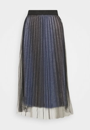 RINKA - Pleated skirt - country blue mix