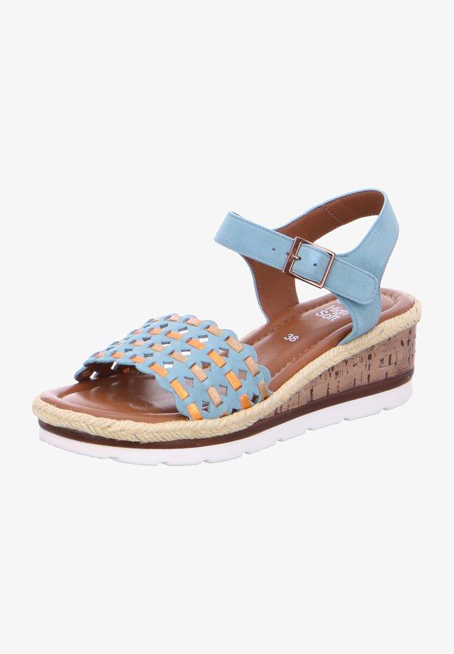 Sandales compensées - blue
