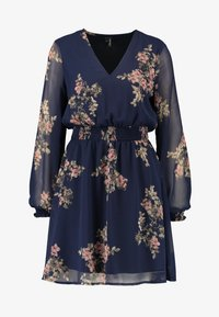 Vero Moda - VMALLIE SHORT SMOCK DRESS - Robe d'été - navy blazer - 5