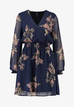 VMALLIE SHORT SMOCK DRESS - Vestito estivo - navy blazer