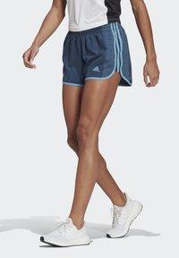 adidas Performance - MARATHON 20 COOLE RESPONSE AEROREADY RUNNING SHORTS - Pantaloncini sportivi - crew navy/hazy blue - 0