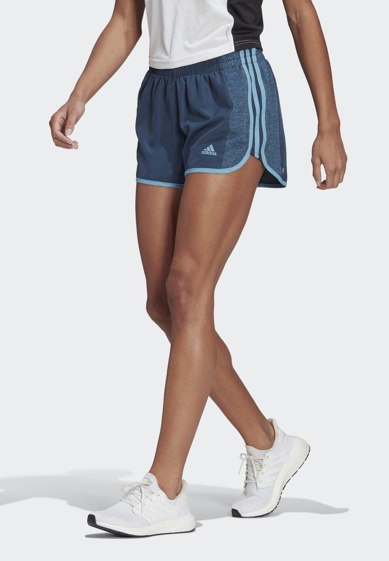adidas Performance - MARATHON 20 COOLE RESPONSE AEROREADY RUNNING SHORTS - Pantaloncini sportivi - crew navy/hazy blue