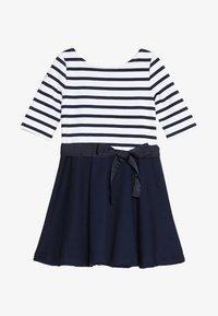 Polo Ralph Lauren - PONTE STRIPE - Robe en jersey - french navy/white - 2