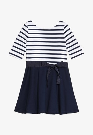 PONTE STRIPE - Vestito di maglina - french navy/white