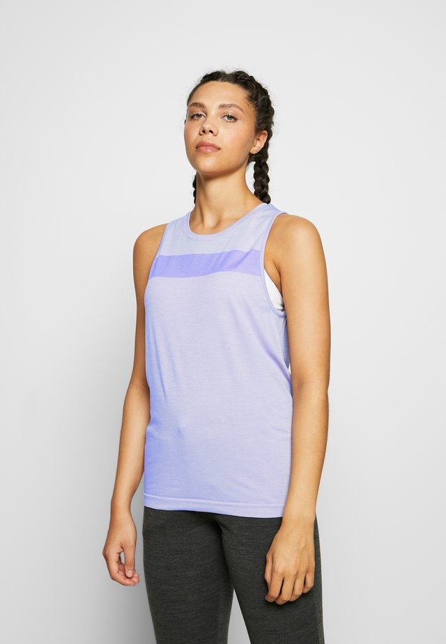MOTION SEAMLESS TANK - Funkční triko - orchid heather