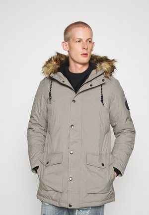 Winter coat - light grey melange