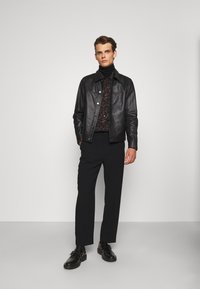 Theory - PATTERSON LEATHER OVERSHIRT - Leather jacket - black - 1