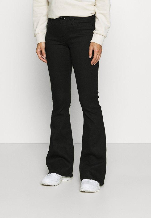 FARRAH - Flared Jeans - black