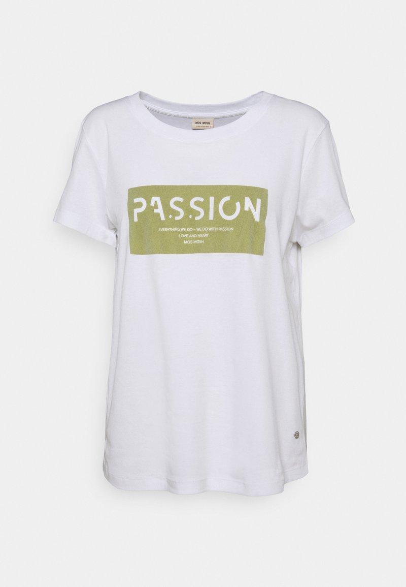 Mos Mosh - CHÉRIE TEE - Print T-shirt - winter pear